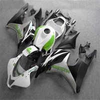 km for fairings CBR600 RR cbr600rr 07 08 White black fairing kit CBR 600 RR 2007 2008 ABS Injection customize bodywork green