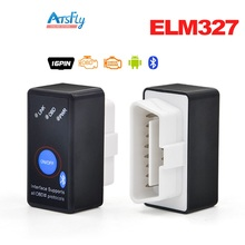 Hottest Mini ELM327 with switch ELM 327 Bluetooth OBD2 OBD II CAN-BUS Diagnostic Tool + Switch Works on Android Symbian Windows