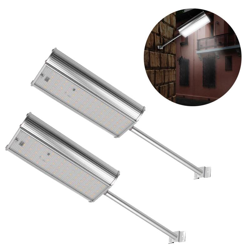 Effizient 70 Led Solar Lampe Licht Fernbedienung 5 Modi Motion Sensor Aluminium Legierung Wand Lampe Nacht Im Freien Solar Straße Saving Licht