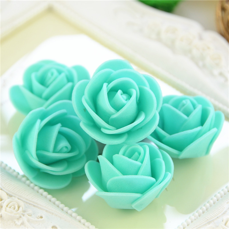 50pcs/Bag Multicolor Mini Rose Head Artificial Flowers For Wedding And Festival Party 30
