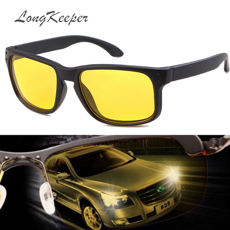 LongKeeper Night Vision Goggles Drivers Night-vision Sunglasses Anti-glare With Luminous Driving Glasses UV400 Sunglasses