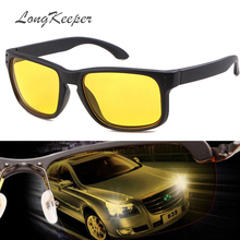 LongKeeper Night vision goggles drivers night-vision sunglasses anti-glare with luminous driving glasses UV400