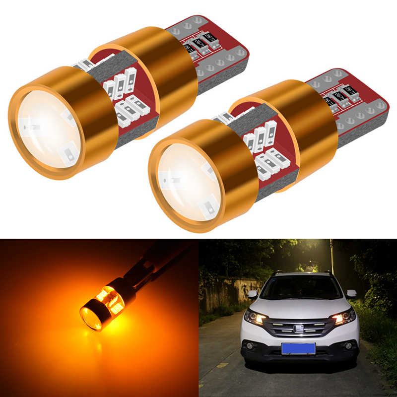 2x T10 LED Lamp W5W LED Canbus Parking Light for Peugeot 206 207 307 308 407 2008 3008 Auto Interior Lights White Yellow Orange