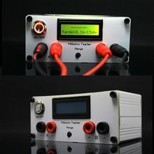 Milliohm 미터 고정밀 디지털 마이크로 옴 저항 테스터 LCD 디스플레이 4 선 테스트 + 켈빈 클립 DC 12V 전원