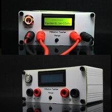 Milliohm metre yüksek hassasiyetli dijital mikro ohm direnç test aleti LCD ekran dört telli testi + Kelvin klip DC 12V güç