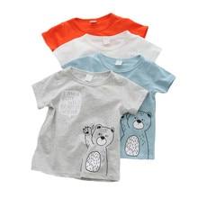 Cotton Boys' Clothing Baby T Shirt Short Sleeve Baby Boys T-Shirts Cartoon Casual Baby Summer First Birthday Boy Clothes Tops