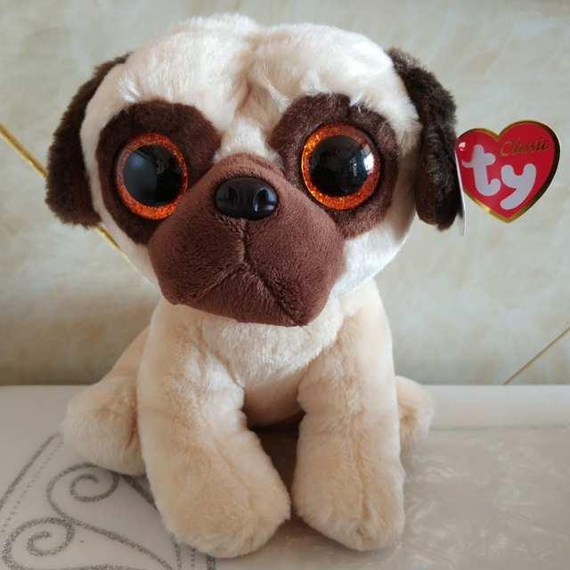 Online Shop Rufus Pug Dog 25cm 10 Inch Ty Classic Plush Toy Stuffed