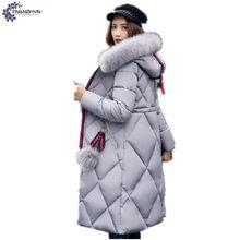 TNLNZHYN Women cotton coat 2017 winter new fashion leisure thickening warm hooded fur collar large size female Outerwear TT809