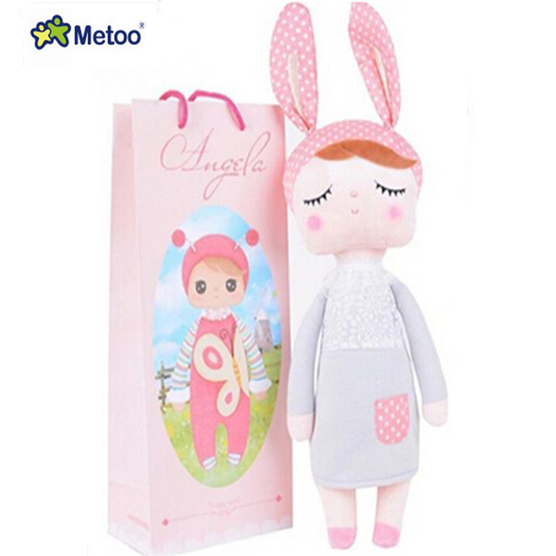 18CM 30CM Cute Angela Metoo Rabbit Dolls Bunny Baby Toy Stuffed Animal Kawaii Panda Bee For Kids Soft Plush Toy WL10 cute bunny soft plush rabbit stuffed animal toy appease baby bed pillow toy kids baby girls kawaii kid baby birthday gift