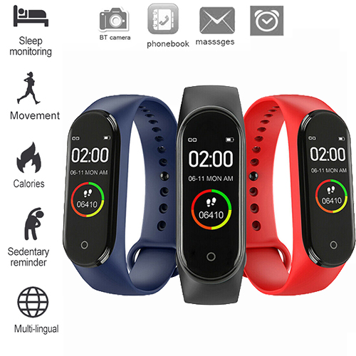 Sport-Watch Bracelet Monitor Tracke Monitor-Blood-Pressure Smart-Band Fitness Waterproof