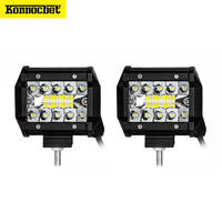 Combo 4 inch LED Bar LED Work Light Bar for Driving Offroad Boat Car Tractor Truck 4x4 SUV ATV 12V 24V Rated 60W Actual 15W