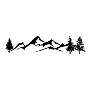 Image 5 - For SUV RV Camper Offroad 1pc 100cm Black/White Tree Mountain Car Decor PET Reflective Forest Car Sticker Decal Mayitr
