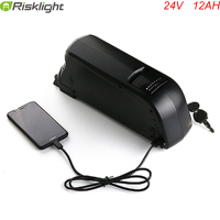 250W 24V 12AH eBike Batterie Dolphin style 24 volt lithium ion Battery for Electric Bicycle with charger