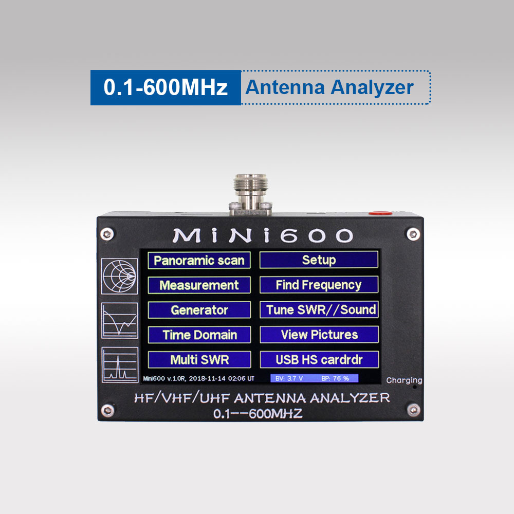 Antenna Counter MINI600 0.1-600MHZ HF/VHF/UHF Antenna Tester MINI-600 With 4.3