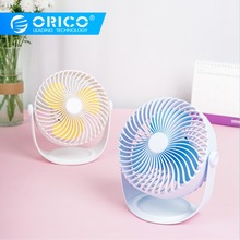 ORICO USB Fan Cooler Strong Wind Desktop Fan for Office or Home Portable Adjustable Fan with 2000mah Battery-White 220v double head electric fan air circulation fan 3 gear energy serve strong wind circulate warm or cold wind portable fan