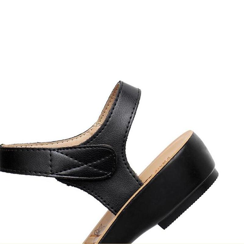 2018 new women sandals genuine leather mother's sandals flat female sandals soft bottom antiskid women sandals plus size 35-41 4
