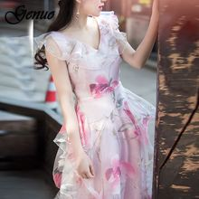 New High Quality Explosions Leisure Elegant embroidery Dresses  Women lace spring summer Casual Shirt Dress