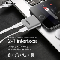 Baseus Aux Audio USB Cable Connector 2 In 1 Earphone Headphone Adapter For IPhone 6 6s