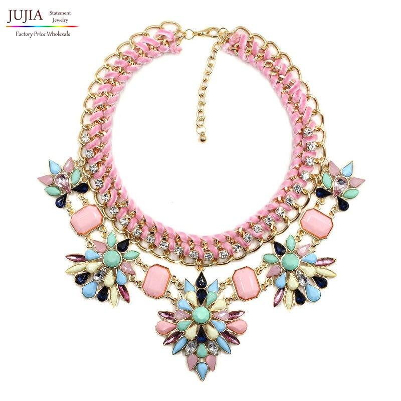 Prix pour 2017 NOUVEAU mode de conception d'été collier collier Colliers et Pendentifs à la mode foulard en gros bib déclaration collier pendentif