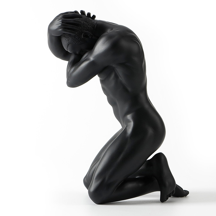 European Modern Resin Mens Statue Pensive Boy Sculpture Abstract African Characters Figurine Home Decoration Wedding GiftsEuropean Modern Resin Mens Statue Pensive Boy Sculpture Abstract African Characters Figurine Home Decoration Wedding Gifts