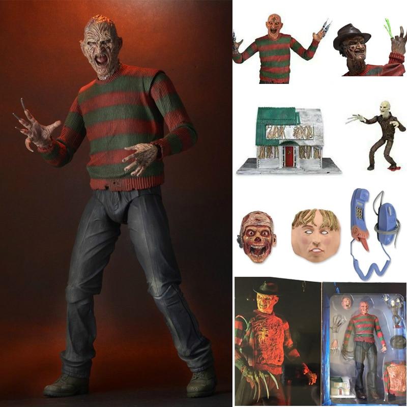 7inch NECA A Nightmare On Elm Street Freddy Krueger Freddy's PVC Action Figure Toy Doll Gift For Kid