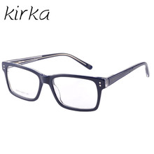 Kirka New 2017 Square Acetate Spectacle Eye Glasses Frames For Men Optical Frame with Clear Lens Lentes Opticos Oculos