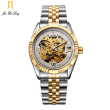 ? TEVISE Mens Watches Brand Watch Skeleton Automatic Self Wind Business Mechanical Steampunk Wristwatch Relogio Masculino Xmas