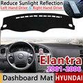 Для hyundai Elantra 2001 2002 2003 2004 2005 2006 XD I30 Противоскользящий коврик  коврик на приборную панель Зонт приборной защиты аксессуары
