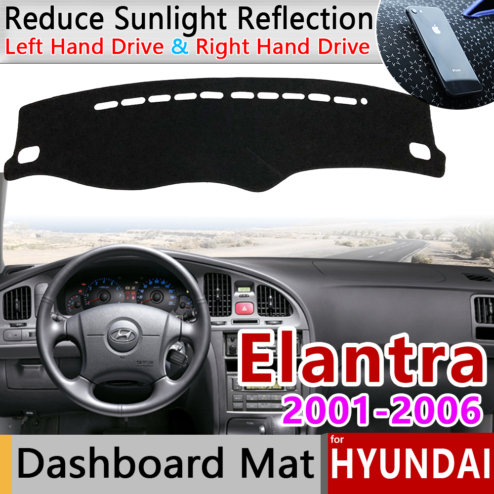 For Hyundai Elantra 2001 2002 2003 2004 2005 2006 XD I30 Anti-Slip Mat Dashboard Cover Pad Sunshade Dashmat Protect Accessories