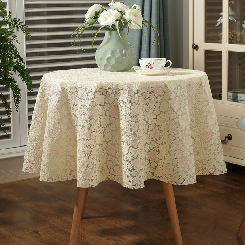 lace tablecloth table pvc plastic pad large round table cover small round waterproof and oil. Black Bedroom Furniture Sets. Home Design Ideas