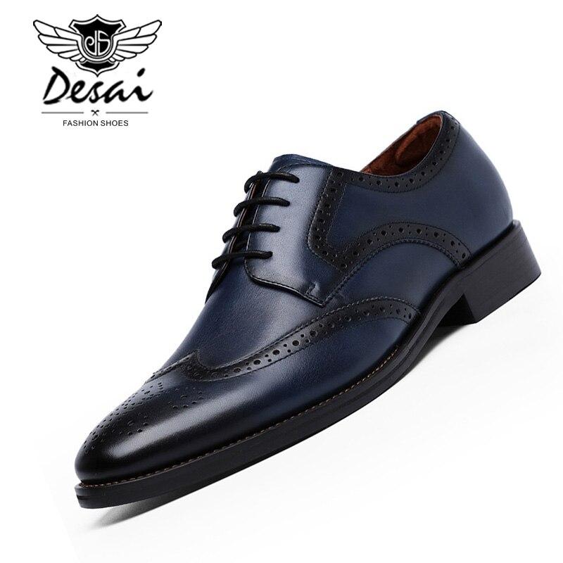 DESAI Brand 2019 New Men s Shoes Brock Hollow Gentleman Shoes Business Dress Shoes British Style