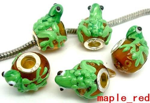 Free Shipping 1pc Silver Frog Bead Fits European Pandora Charm Bracelets A196 1 Large Assortment