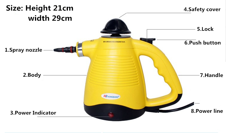 Bon Handheld Steam Cleaner High Pressure Cleaning Portable Clean Machine  Kitchen Cabinets Clothes With Brush Iron Generator In Steam Cleaners From  Home ...