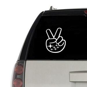 Para Subaru signo de la paz mano ola pegatina de vinilo coche ventana decoración Subaru Logo Laptop calcomanías para Apple MacBook Air Decoración