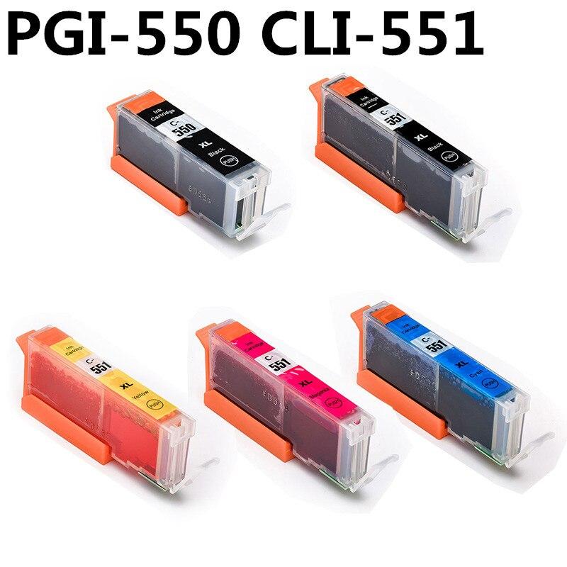Полный картридж PGI 550 cli 551 для принтеров canon PIXMA IP7250 MG5450 MX925 MG5550 MG6450 MG5650 MG6650 IX6850 MX725 MX925
