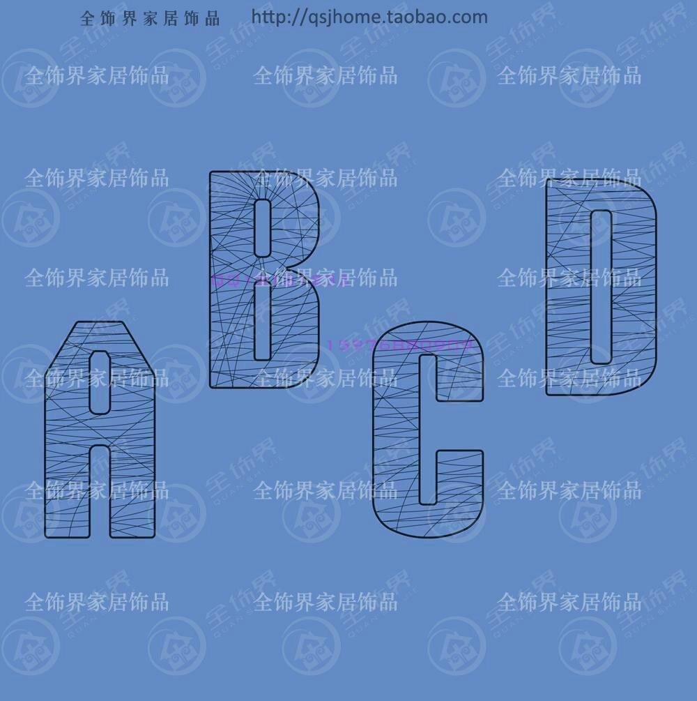 Мода провода письмо настенные украшения металлическая проволока Wall Art Rock Настенный декор
