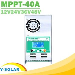 Контроллер солнечной зарядки PowMr MPPT 40A, ЖК-дисплей, 12 В, 24 В, 36 В, 48 В, автоматический регулятор заряда солнечной панели для Max190VDC вход