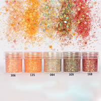 5 Boxes New Nail Mermaid Glitter Flakes Sparkly 3D Hexagon Colorful Sequins Spangles Polish Manicure Nails Art Decorations