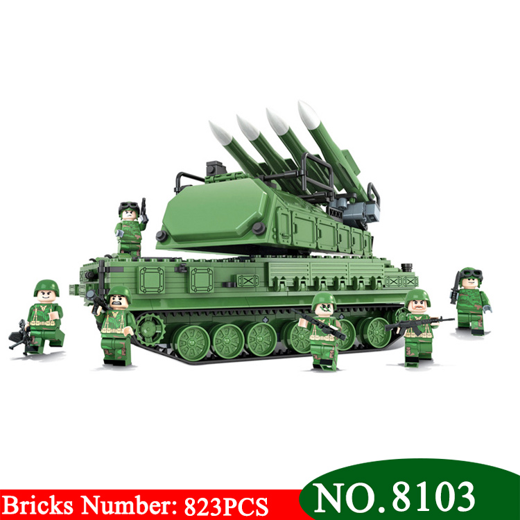 Winner Military Model Toy Building Blocks The Russian 9M317 Air Defense Missile Assembly Education Toys brick