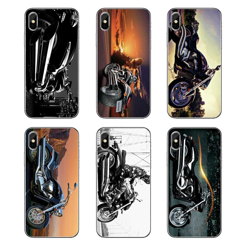 For iPod Touch iPhone 4 4S 5 5S 5C SE 6 6S 7 8 X XR XS Plus MAX Suzuki Intruder 1800 motorcycle Transparent Soft Cases Covers