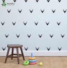 40 colors Deer Heads Set  Wall Decal Vinyl Sticker Art Home Decor Kids Room Mural 42 pcs paper S-13