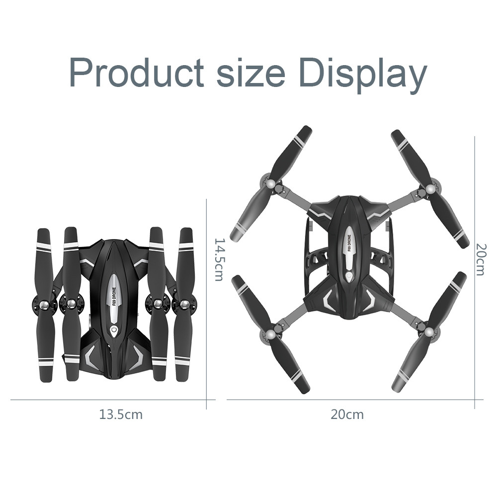 Image 5 - F69Pro 2.4G 5MP 1080P Wide Angle WIFI FPV HD Camera Foldable RC Drone Quadrocopt Toys 5.27-in RC Airplanes from Toys & Hobbies
