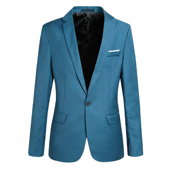 Solid Color Slim Man Casual Thin Suit Jacket Office Blazers