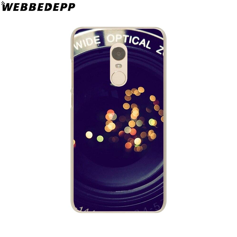 WEBBEDEPP Camera Art Case for Xiaomi Mi 8 SE A1 6 5X 5S Plus MiA1 Mi6 & Redmi Note 5 4 4X 4A 5A Prime Pro
