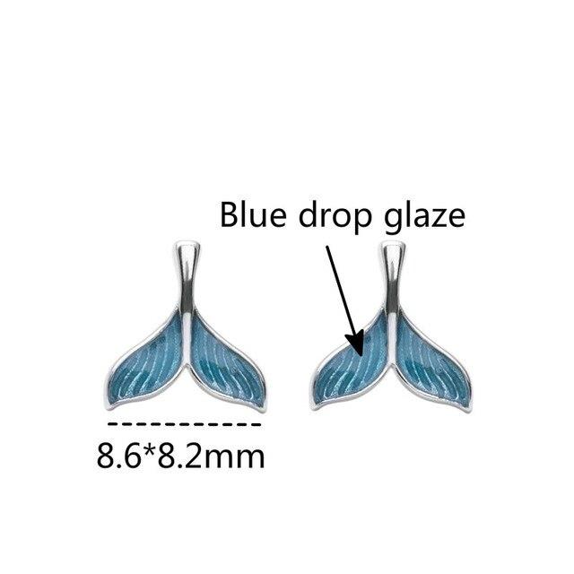 Купить женские серьги гвоздики flyleaf из розового золота и синей глазури картинки
