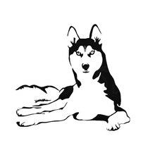 A Lovely And Ferocious Dog Art Painting Car Stickers Rear Window Car Sticker Rear Window Car Sticker yjzt 14cmx8 2cm lovely smooth haired dachshund dog high quality car sticker c1 9043