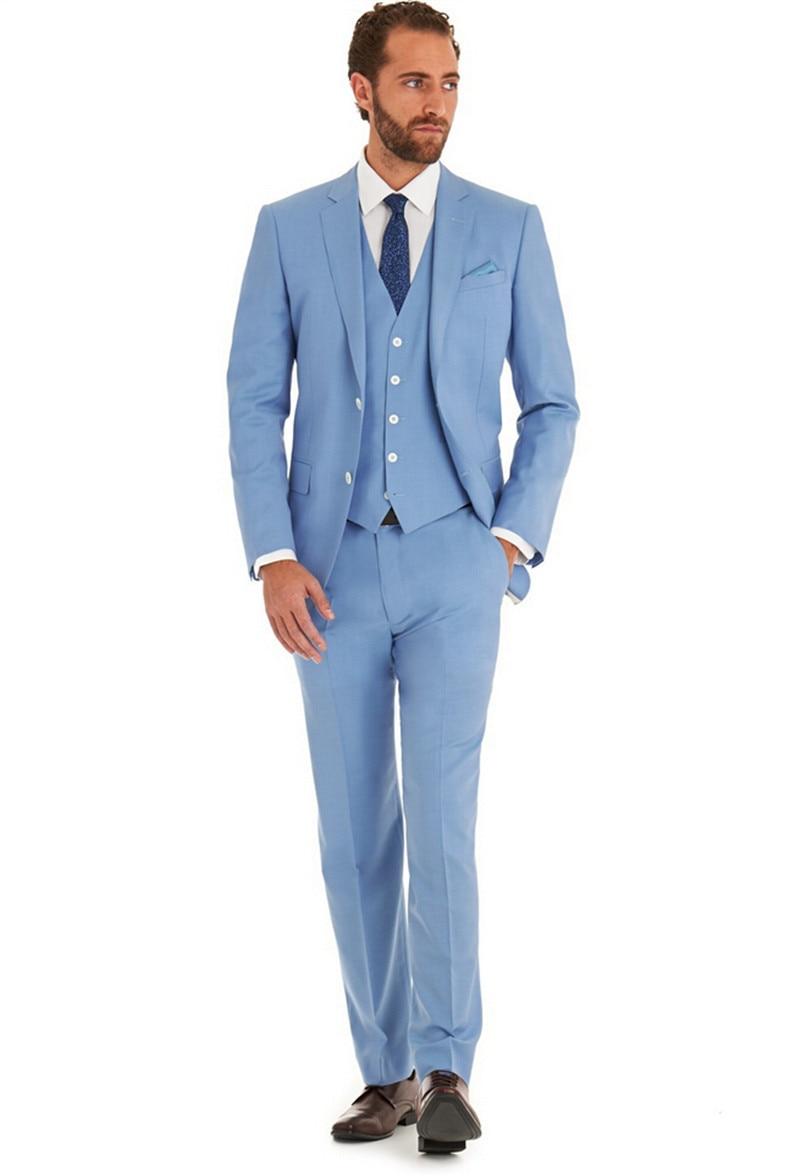 New Arrivel Light blue wedding man\'s Suit party dress Lounge suit ...