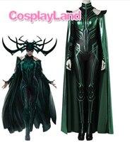 Hela Cosplay Costume Adult Women Halloween Costumes Cosplay Thor Ragnarok Hela Costume Custom Made Jumpsuit Boots