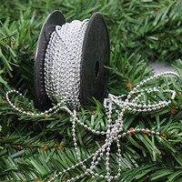 Christmas Ribbons Festive Decoration Ribbons 2 5mm Diameter Oblong Chain Line Bead Bead Christmas Tree Decorations
