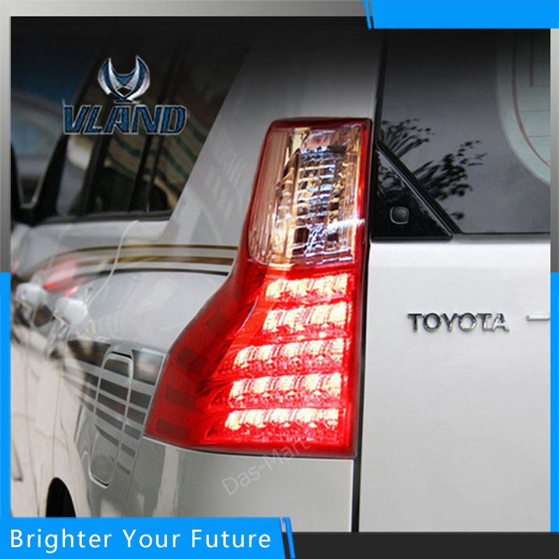 Car Styling Accessories for Toyota Prado 2011-2017 Tail Lamp Rear Lamp Assembly DRL+Brake+Park+Signal special car trunk mats for toyota all models corolla camry rav4 auris prius yalis avensis 2014 accessories car styling auto